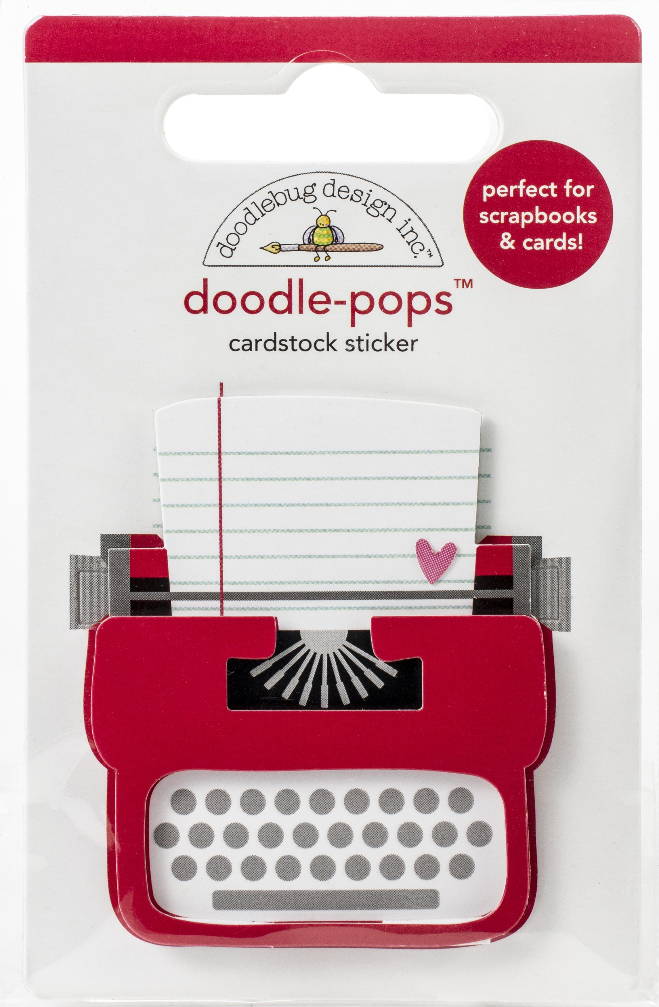 Doodlebug Doodle-Pops 3D Stickers-Love Story, Love Notes