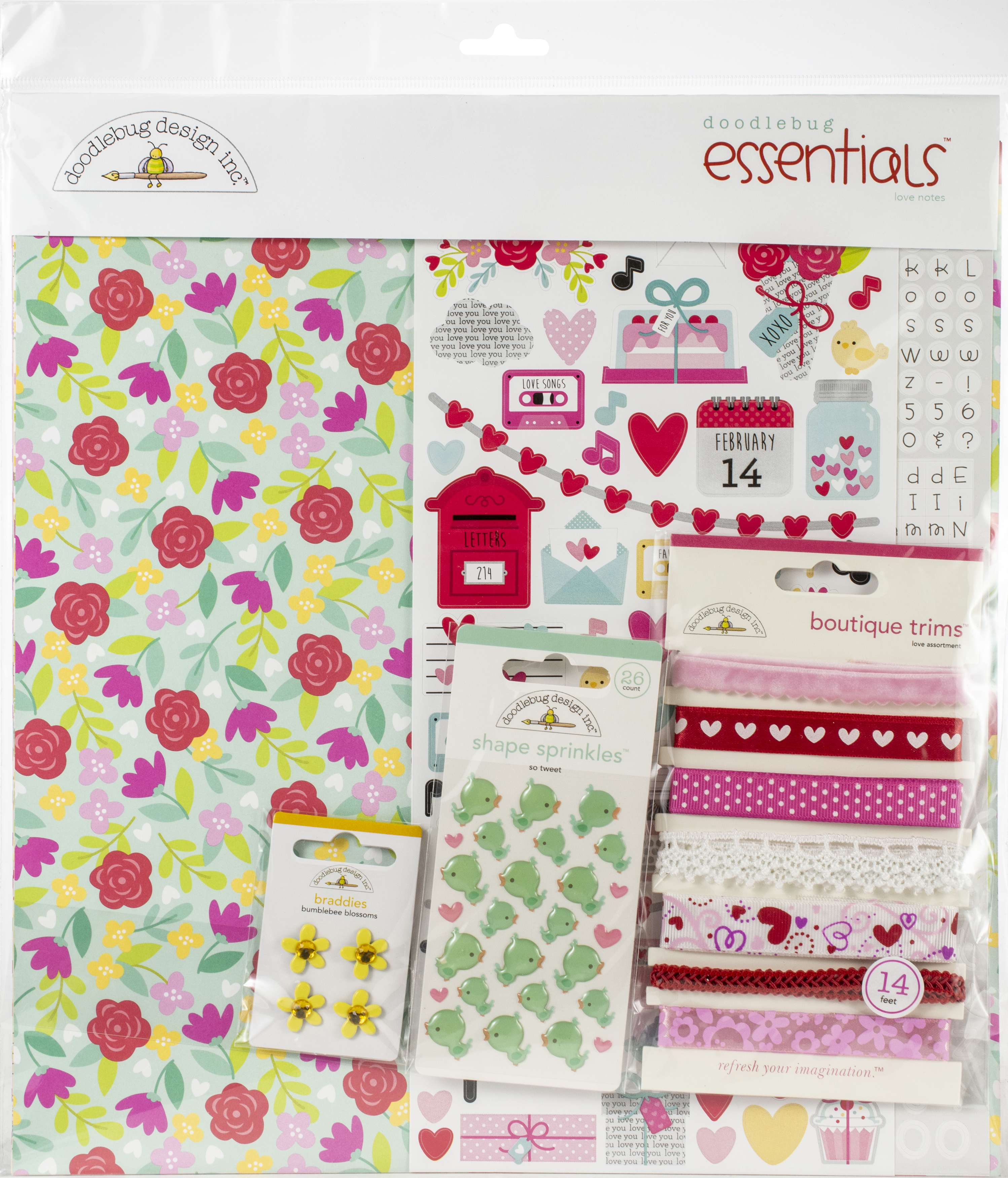 Doodlebug Essentials Page Kit 12X12-Love Notes