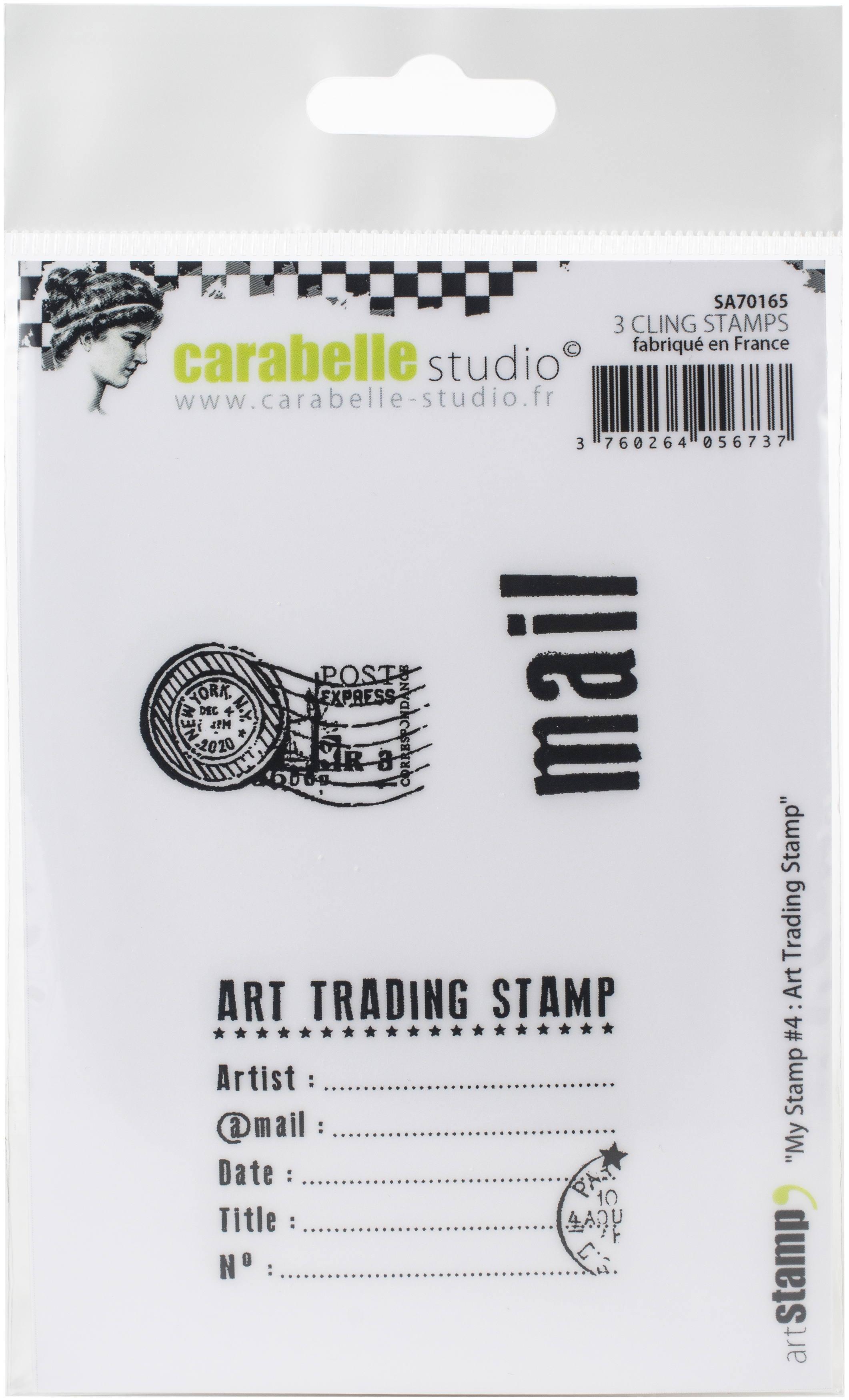 Carabelle Studio Cling Stamp A7-My Stamp #4: Art Trading Stamp