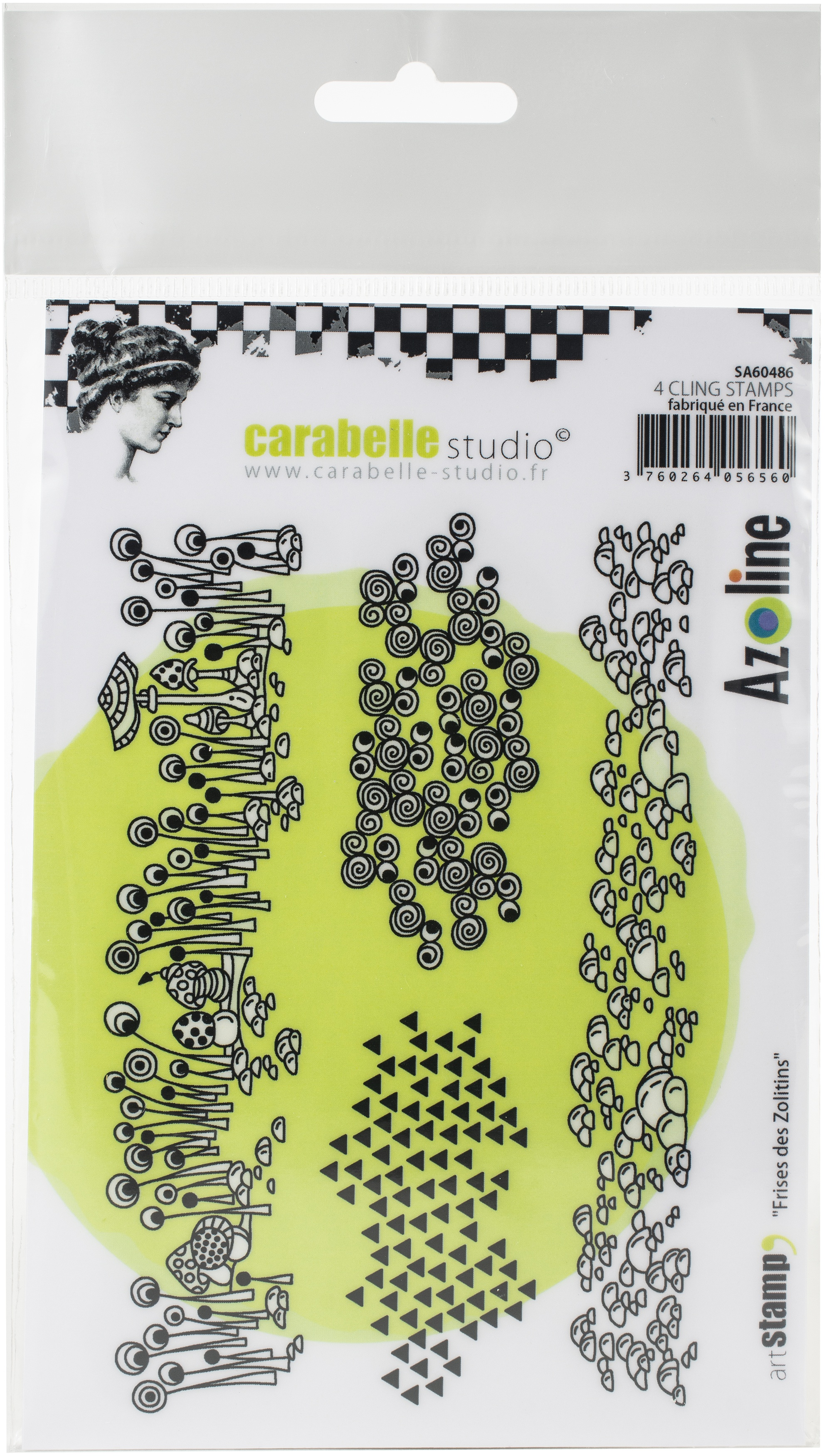 Carabelle Studio Cling Stamp A6 By Azoline-Borders Of Zolitins