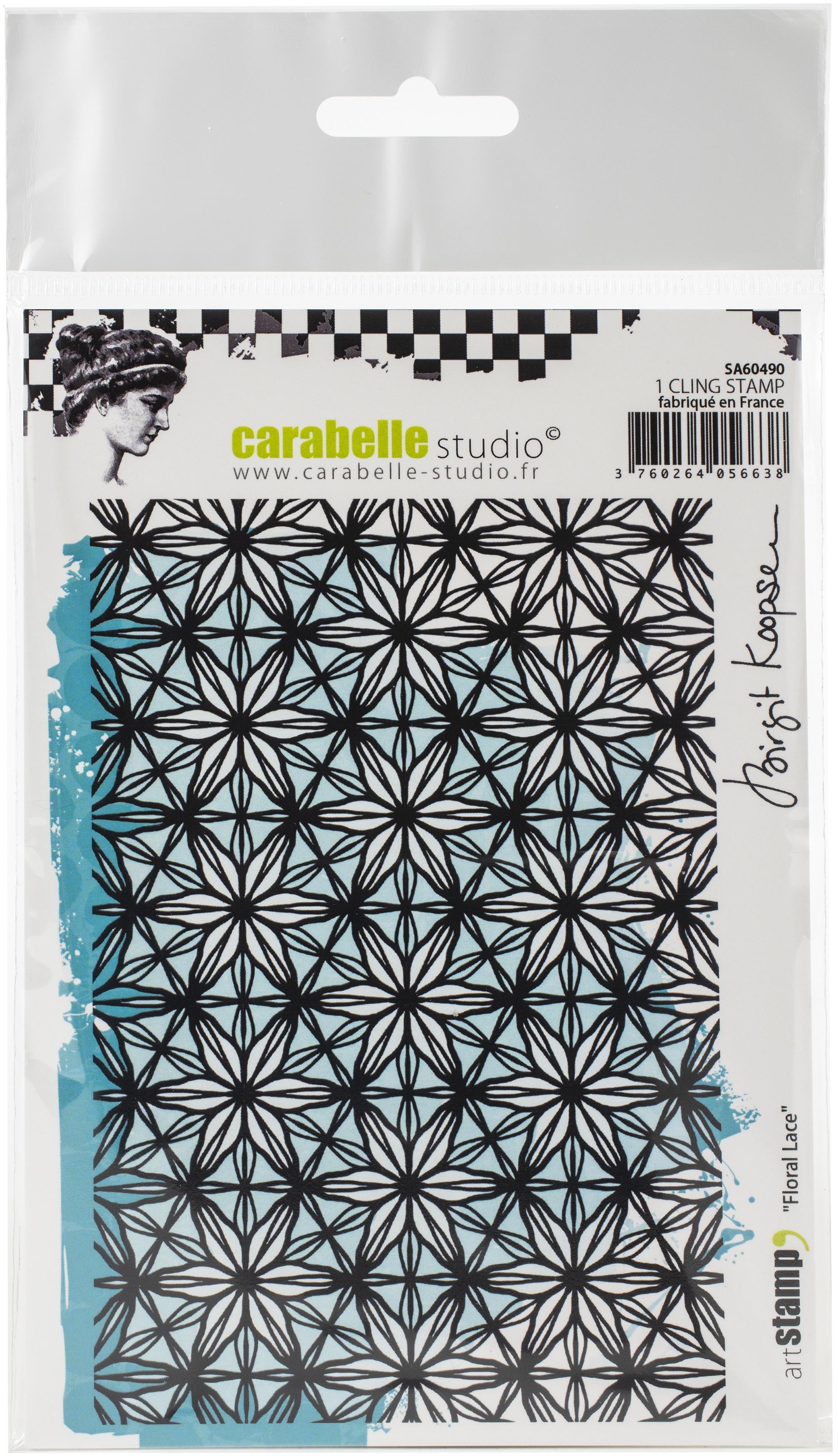 Carabelle Studio Cling Stamp A6 By Birgit Koopsen-Floral Lace