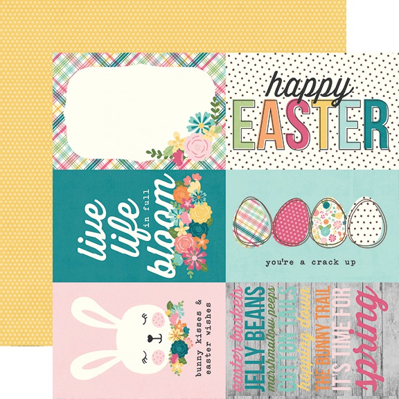 Hip Hop Hooray Double-Sided Cardstock 12X12-4X6 Elements