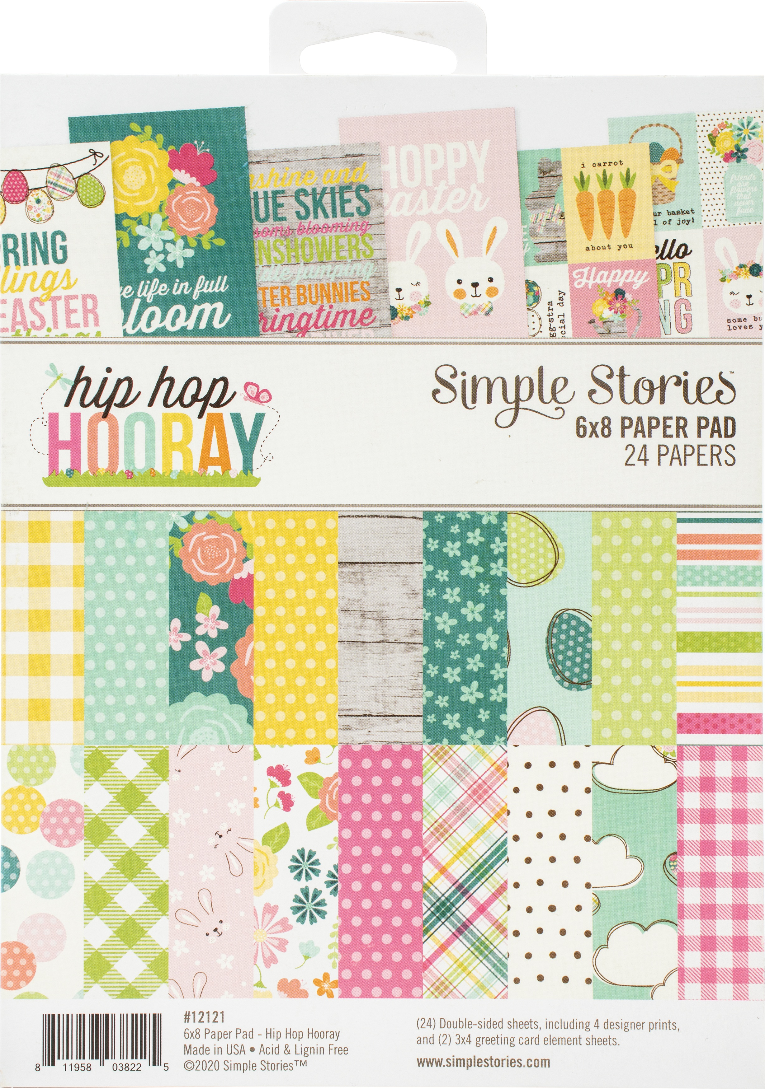 Simple Stories Double-Sided Paper Pad 6X8 24/Pkg-Hip Hop Hooray
