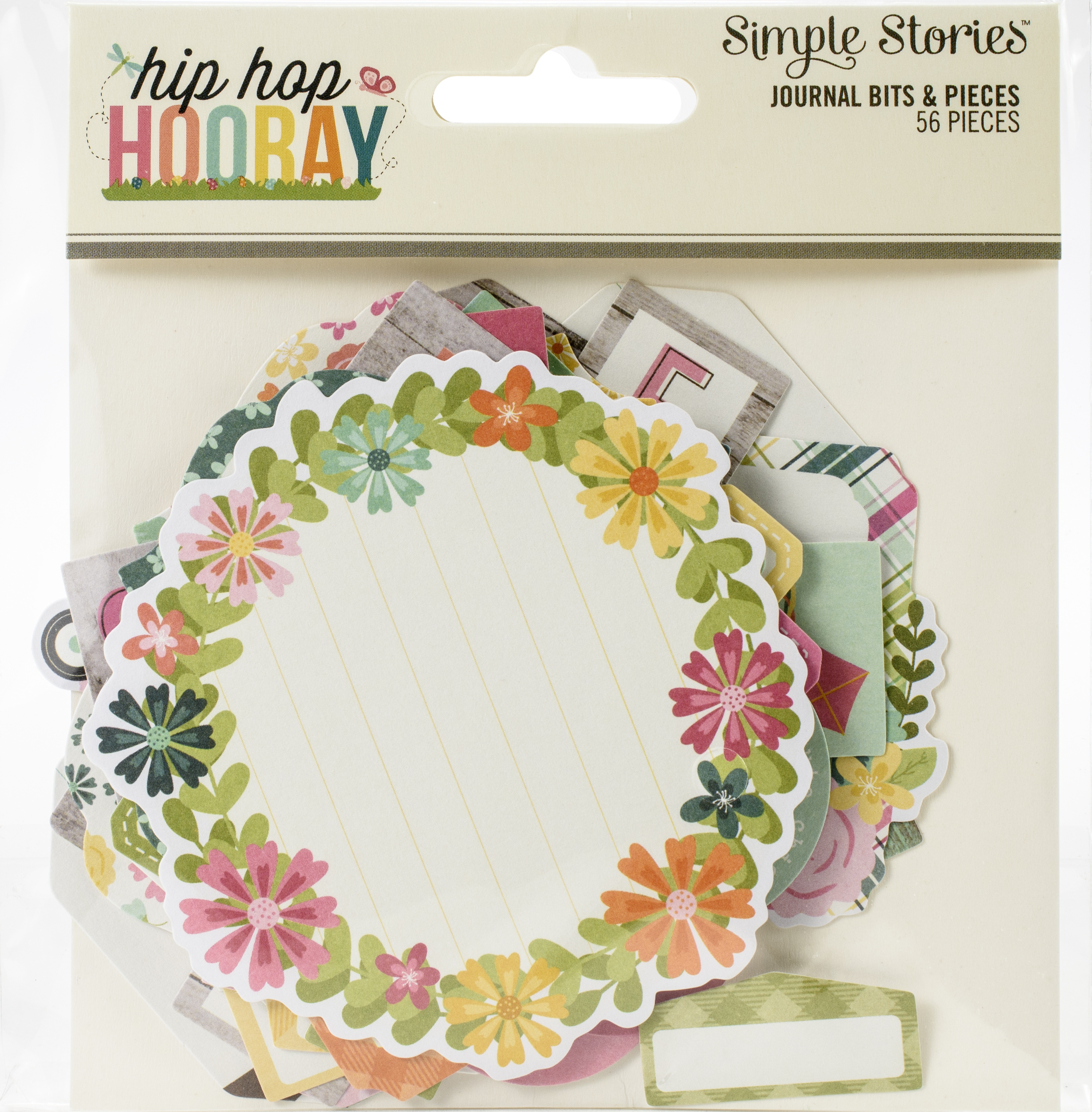 Hip Hop Hooray Bits & Pieces Die-Cuts 56/Pkg-Journal