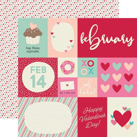 Best Year Ever Double-Sided Cardstock 12X12-February