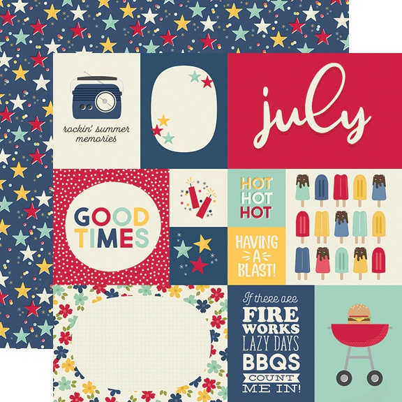 Best Year Ever Double-Sided Cardstock 12X12-July