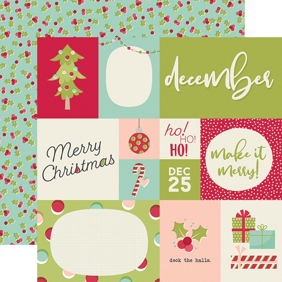 Best Year Ever Double-Sided Cardstock 12X12-December 4X6 Elements