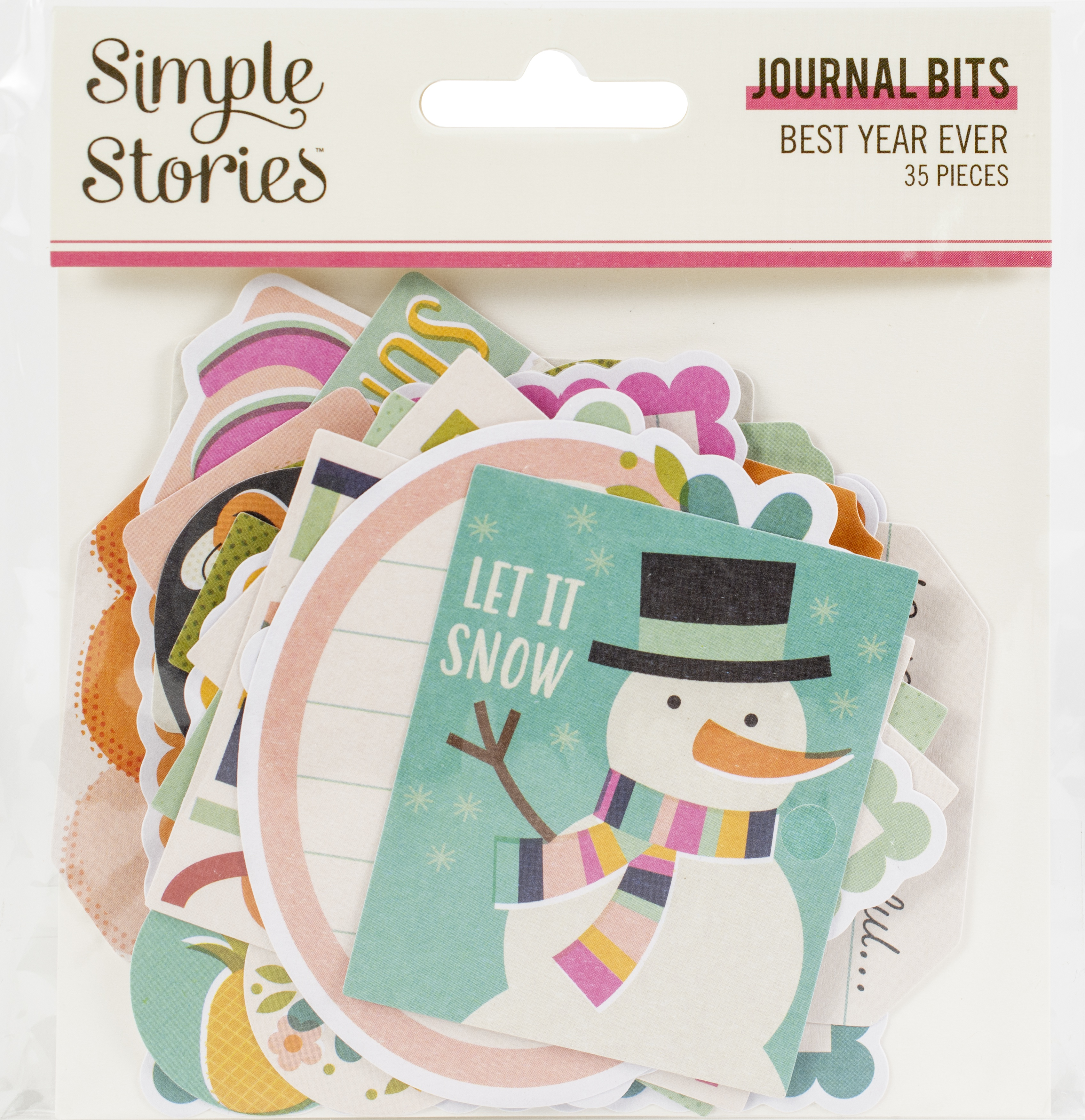 Best Year Ever Bits & Pieces Die-Cuts 35/Pkg-Journal