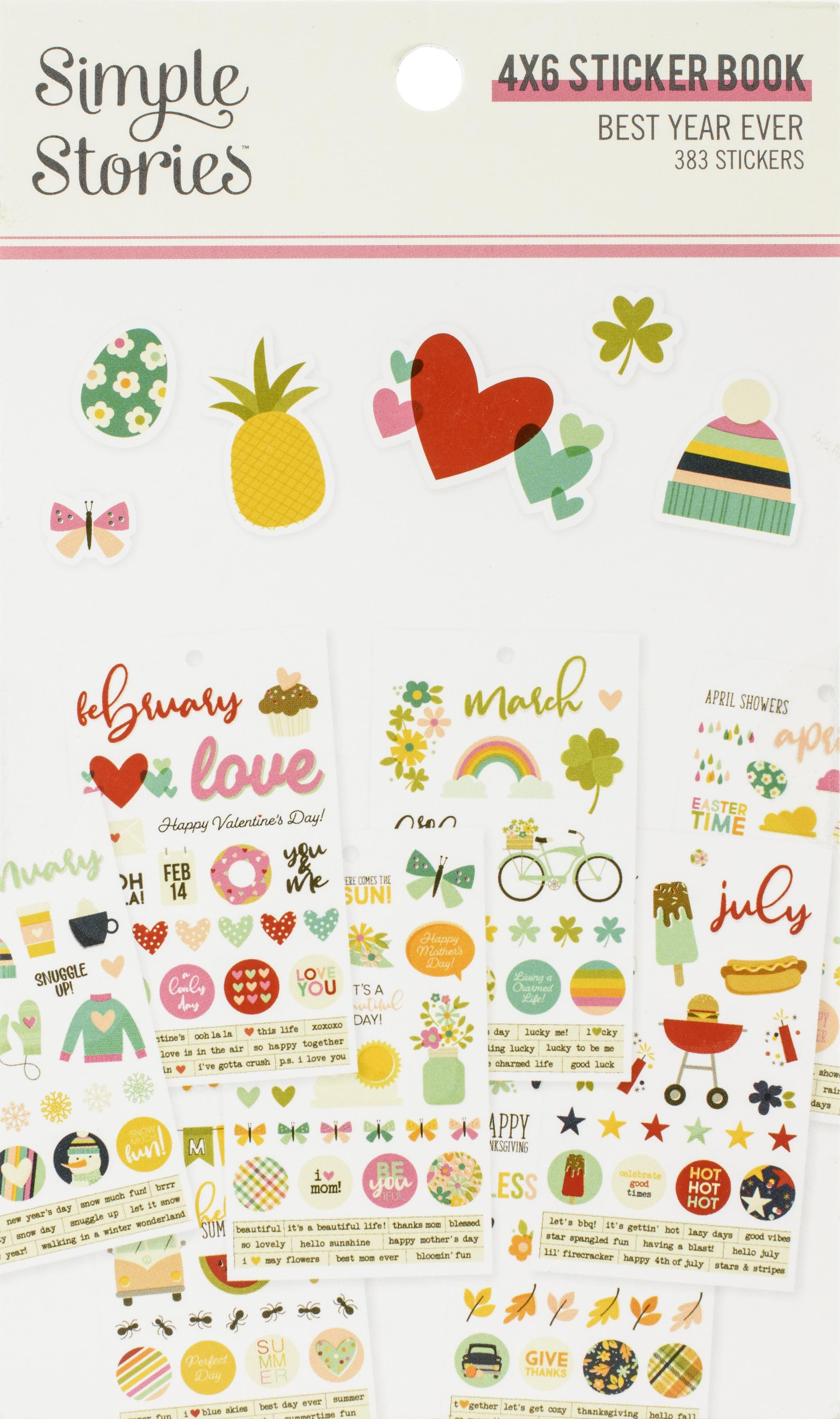 Best Year Ever 4X6 Sticker Book 12/Pkg