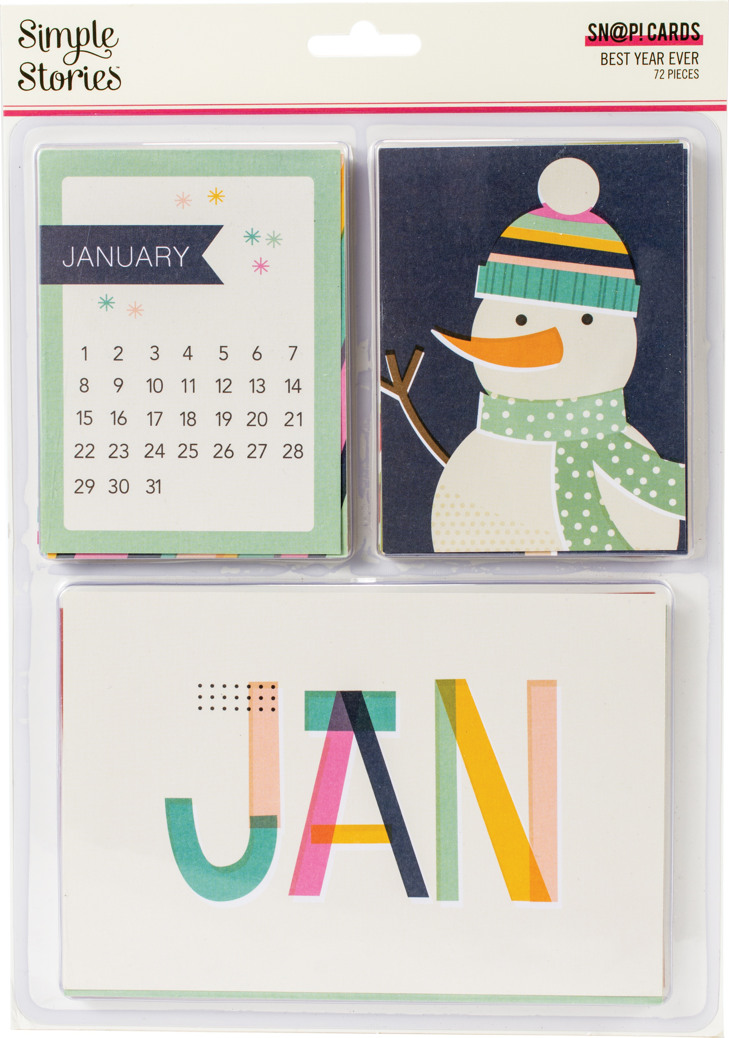 Simple Stories Sn@p! Card Pack 72/Pkg-Best Year Ever