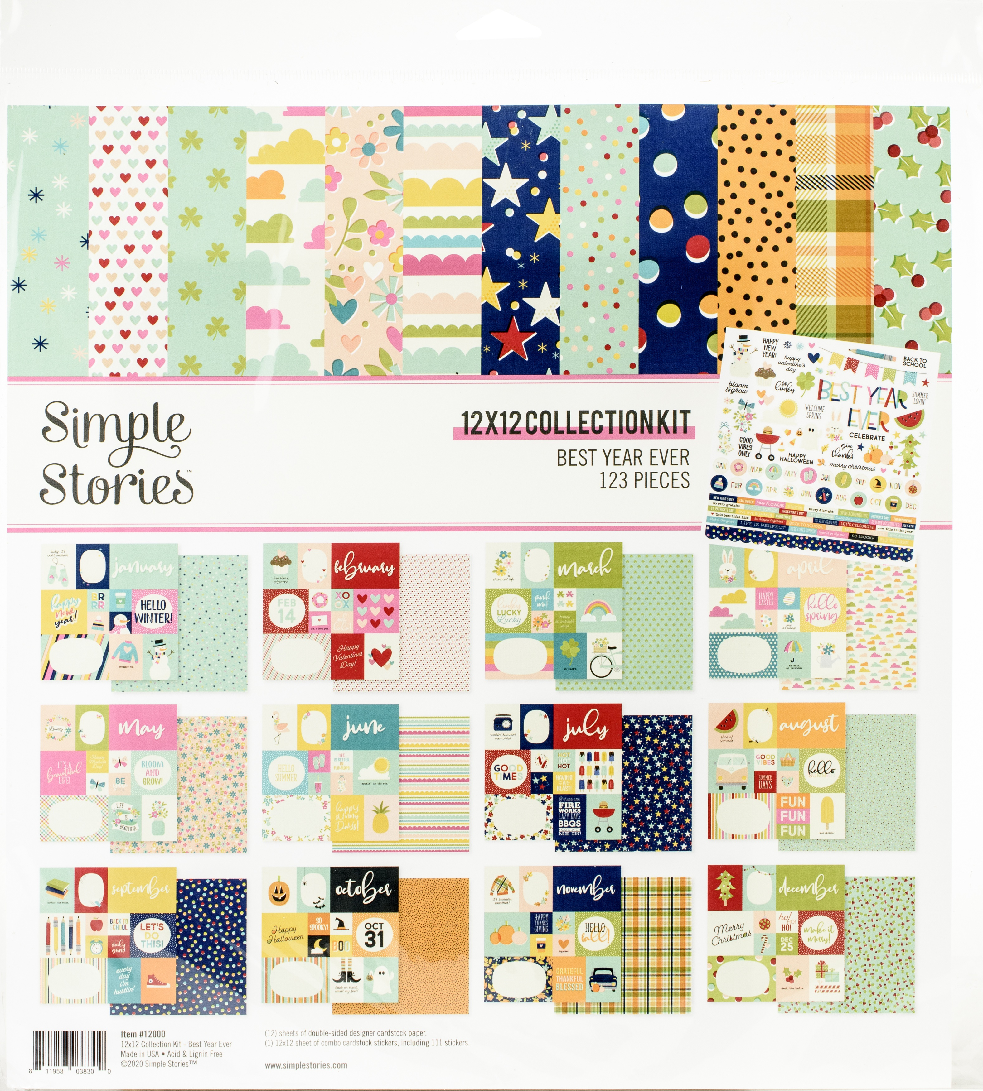 Simple Stories Collection Kit 12X12-Best Year Ever
