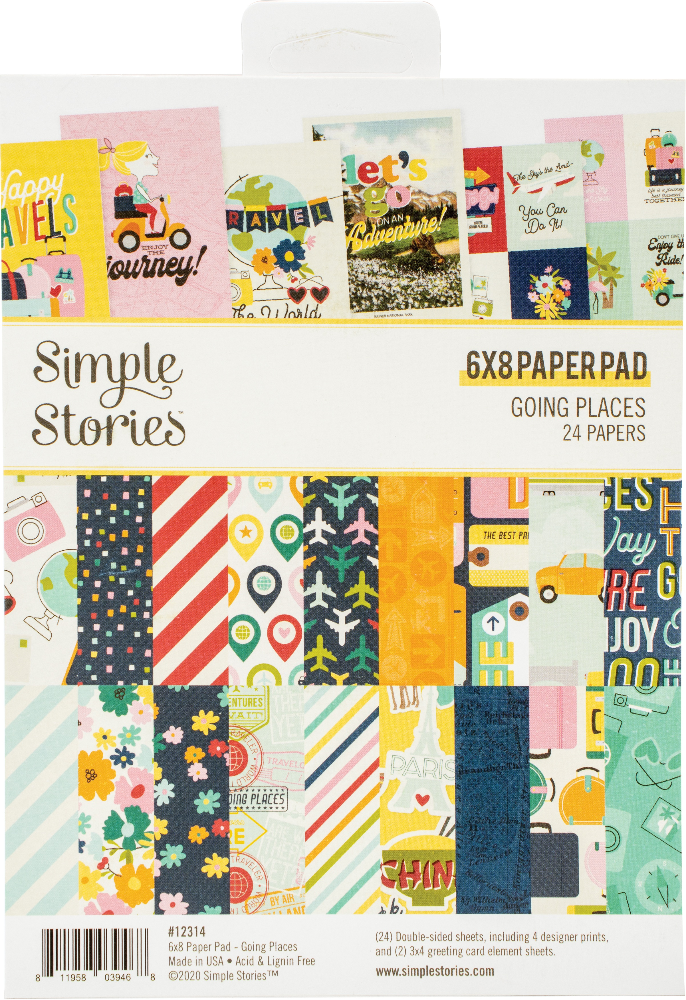 Simple Stories Double-Sided Paper Pad 6X8 24/Pkg-Going Places