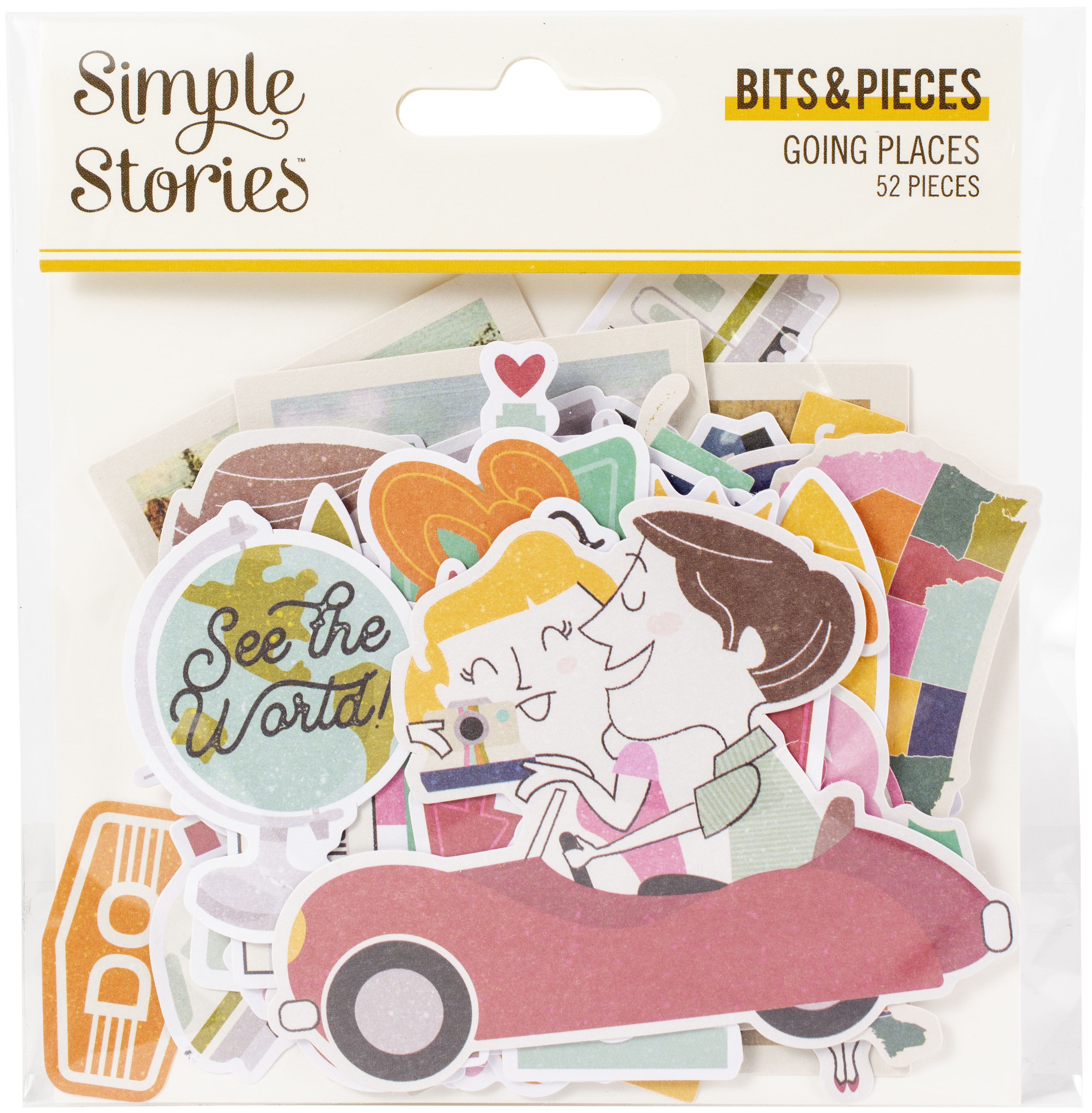^Simple Stories Going Places - Bits & Pieces Die Cuts