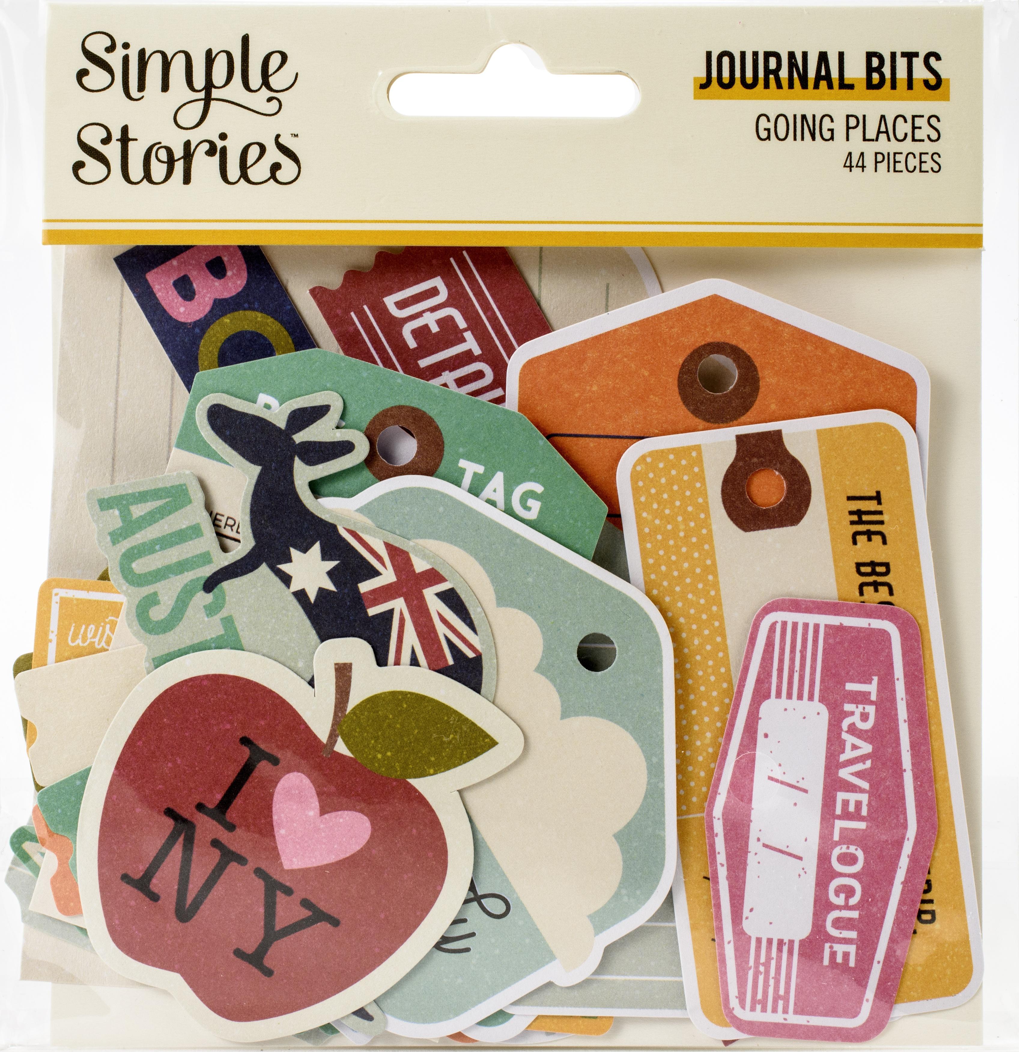 Going Places Bits & Pieces Die-Cuts 44/Pkg-Journal