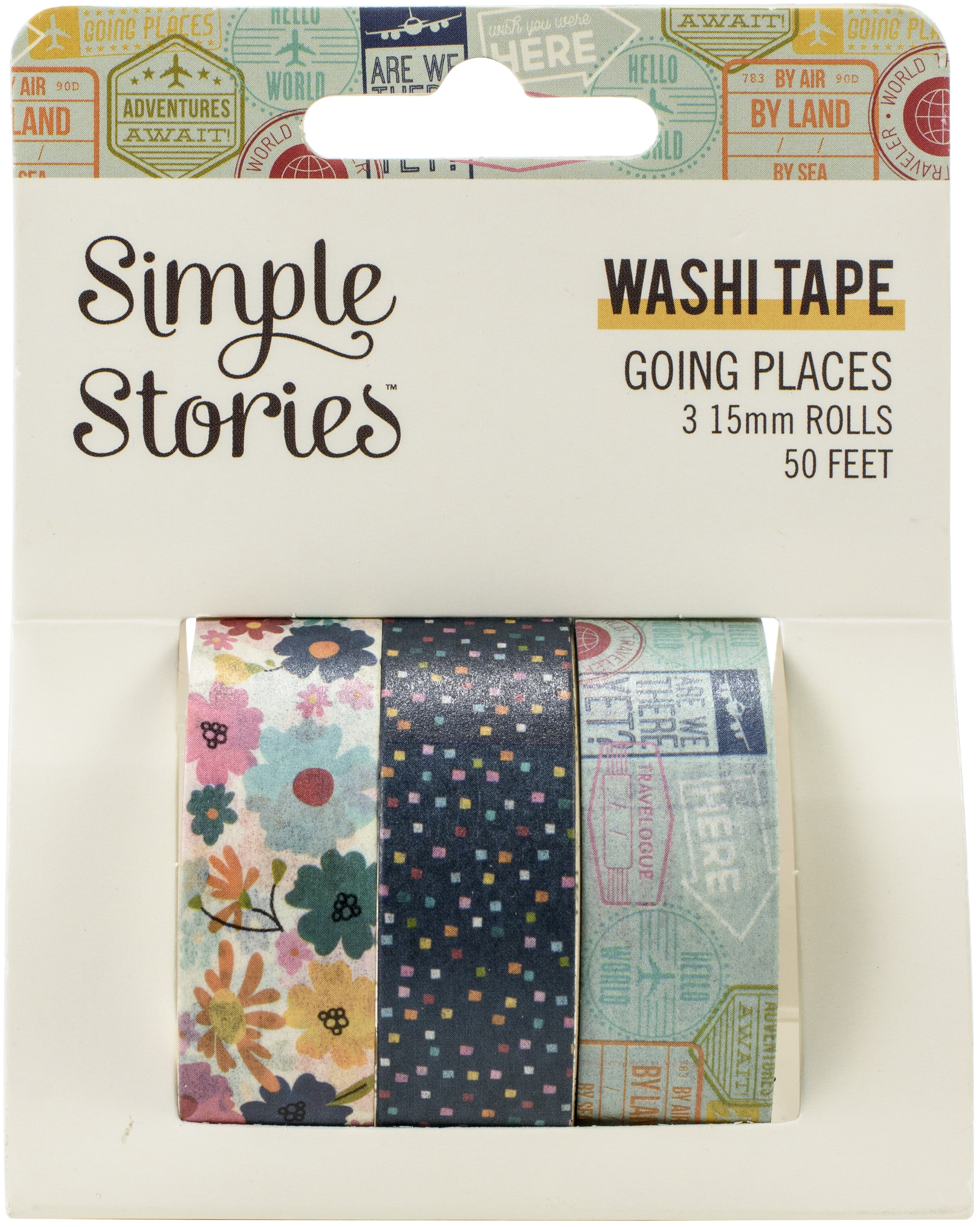 Going Places Washi Tape 3/Pkg-