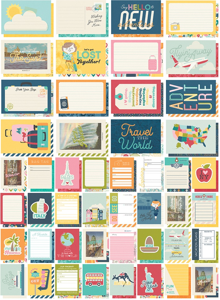 Simple Stories Sn@p! Card Pack 72/Pkg-Going Places
