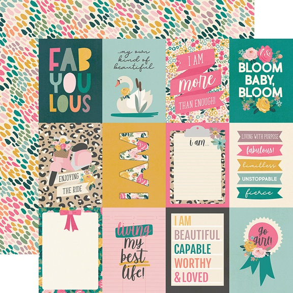 I Am Double-Sided Cardstock 12X12-3X4 Elements