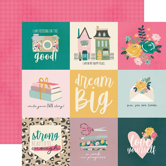 I Am Double-Sided Cardstock 12X12-4X4 Elements