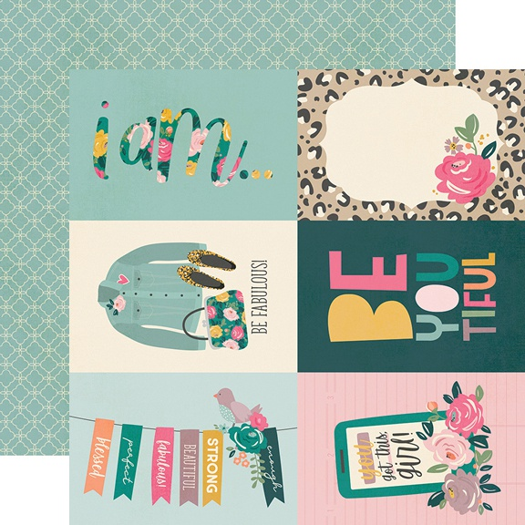 I Am Double-Sided Cardstock 12X12-4X6 Elements