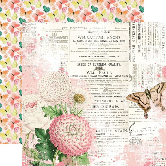 Simple Vintage Garden District Double-Sided Cardstock 12-You Can Fly