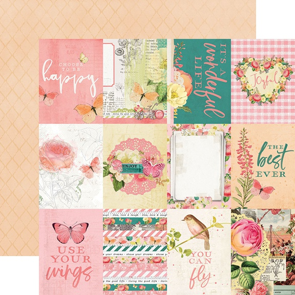 Simple Vintage Garden District Double-Sided Cardstock 12-3X4 Elements