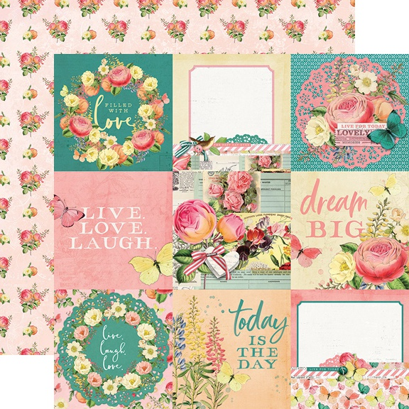 Simple Vintage Garden District Double-Sided Cardstock 12-4X4 Elements