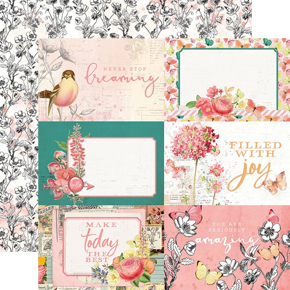 Simple Vintage Garden District Double-Sided Cardstock 12-4X6 Elements