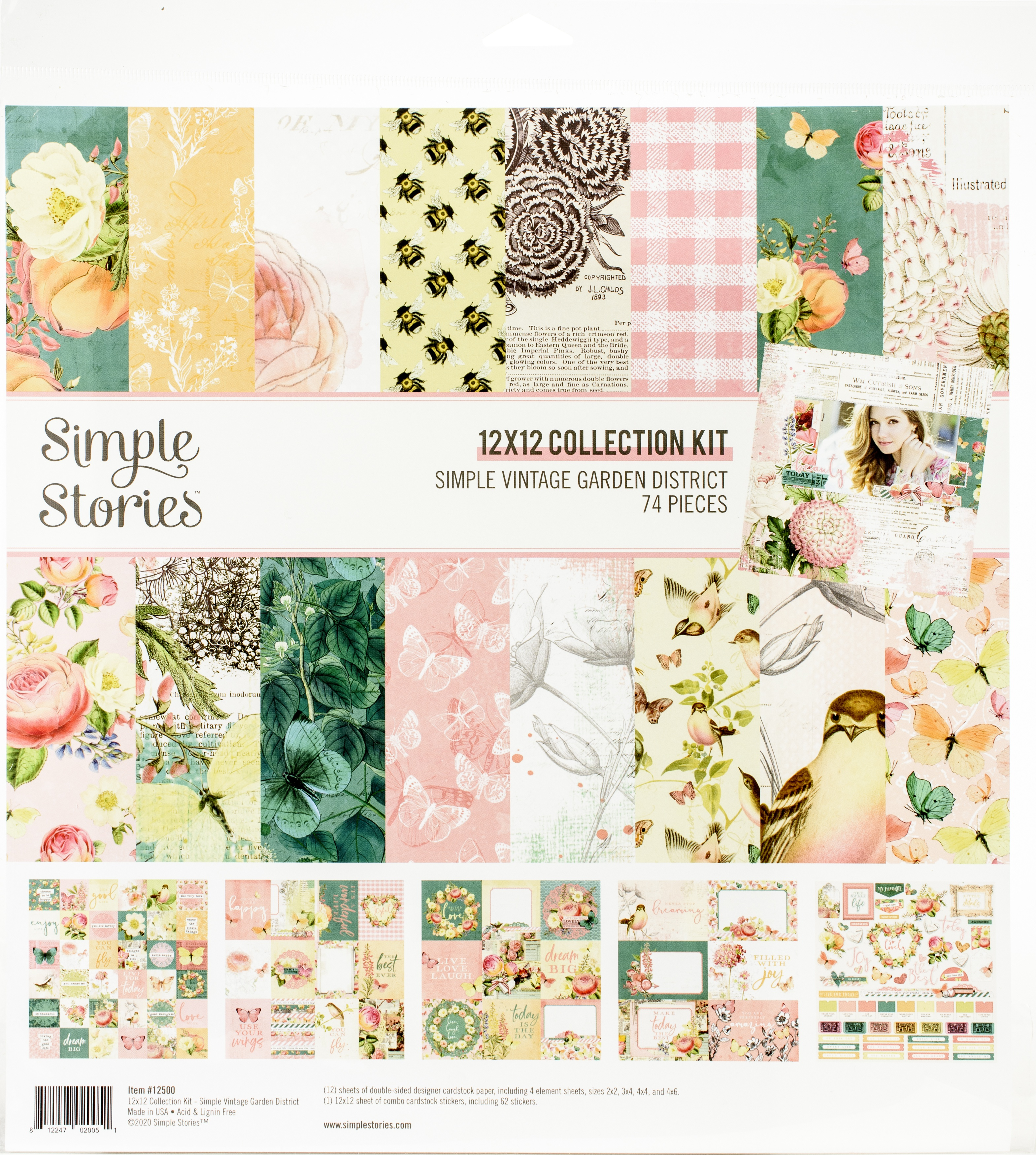 Simple Stories Collection Kit 12X12-Simple Vintage Garden District