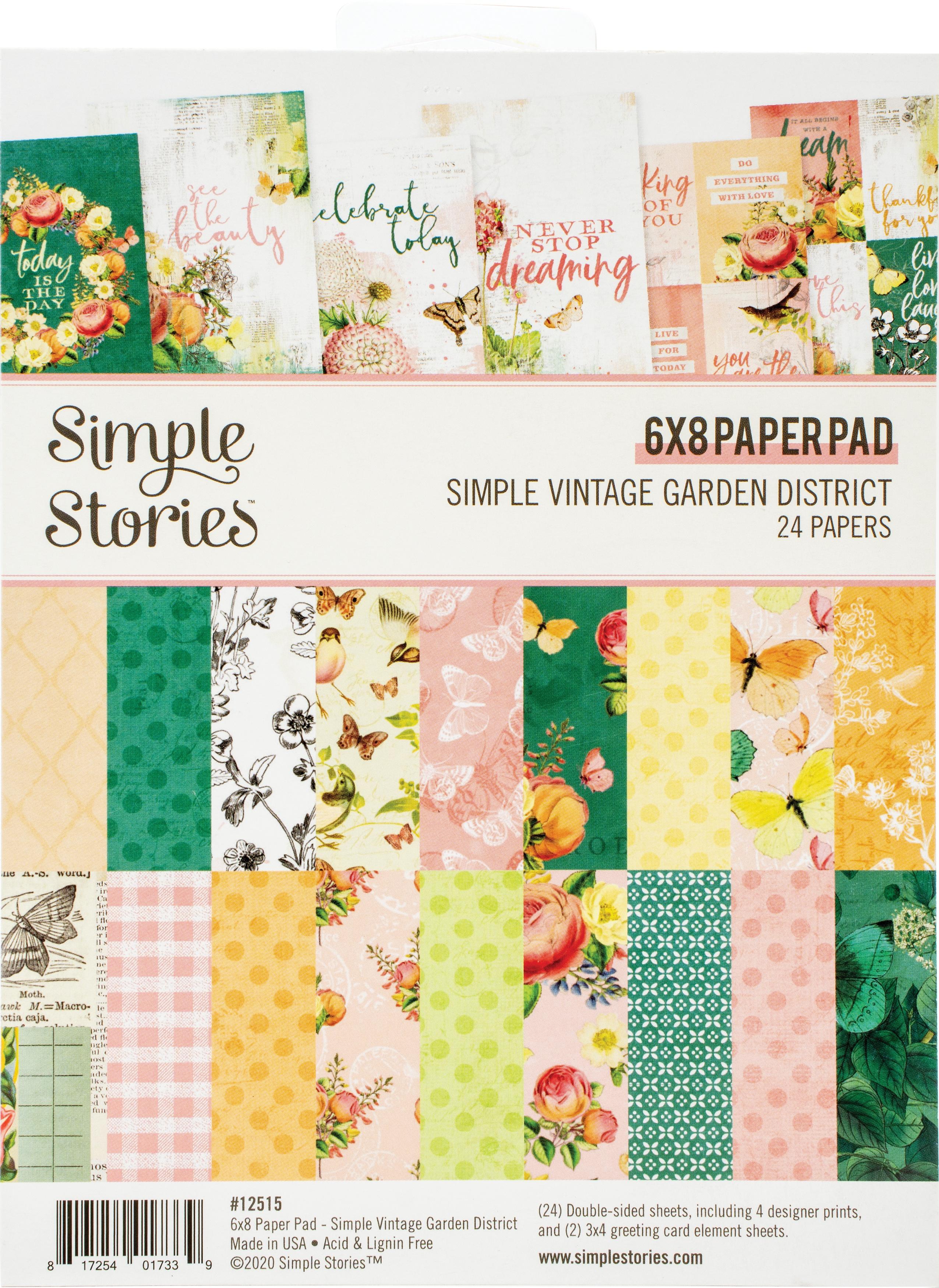 Simple Stories Double-Sided Paper Pad 6X8 24/Pkg-Simple Vintage Garden Distric...