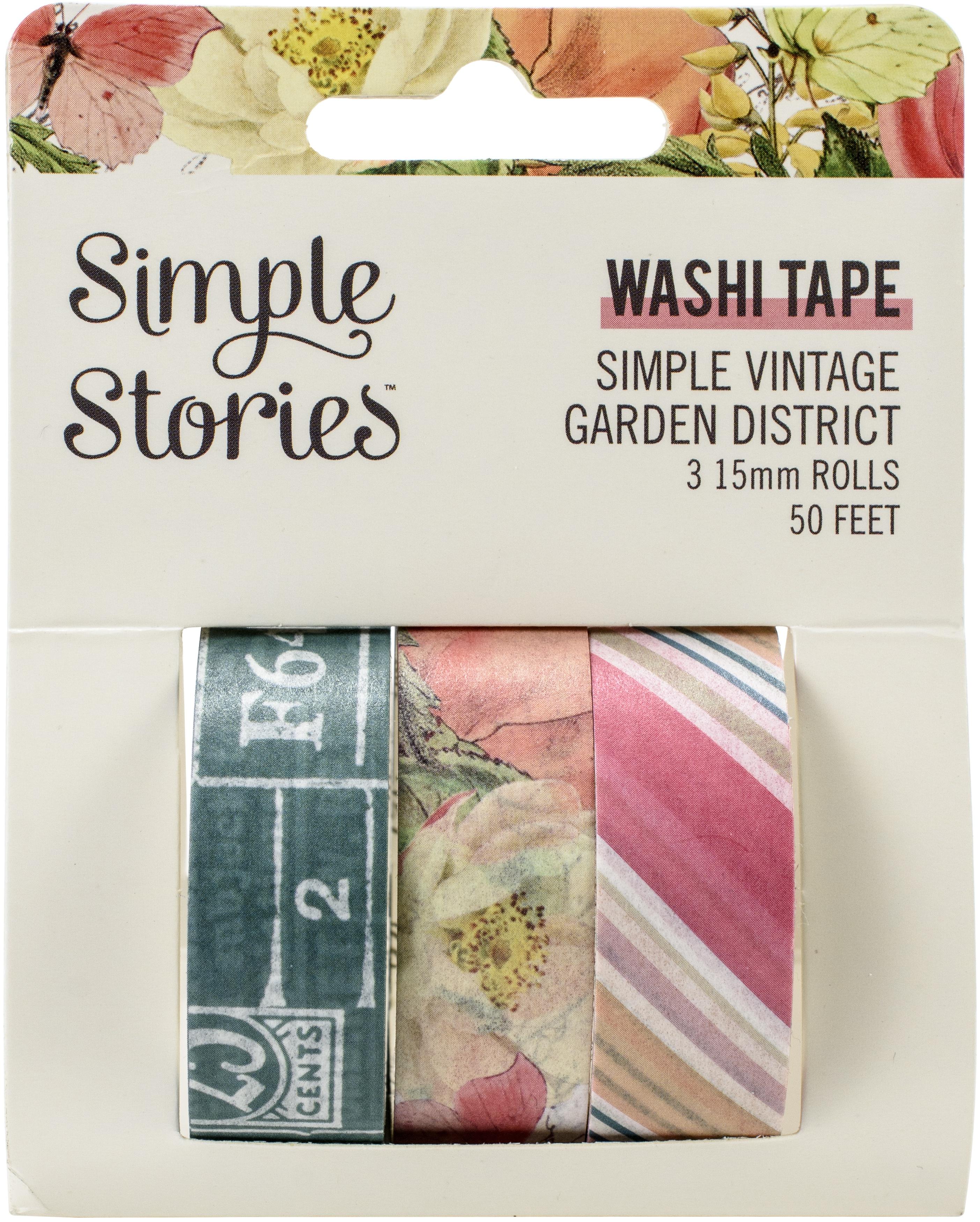 Simple Stories Simple Vintage Garden District Washi Tape 3/P-