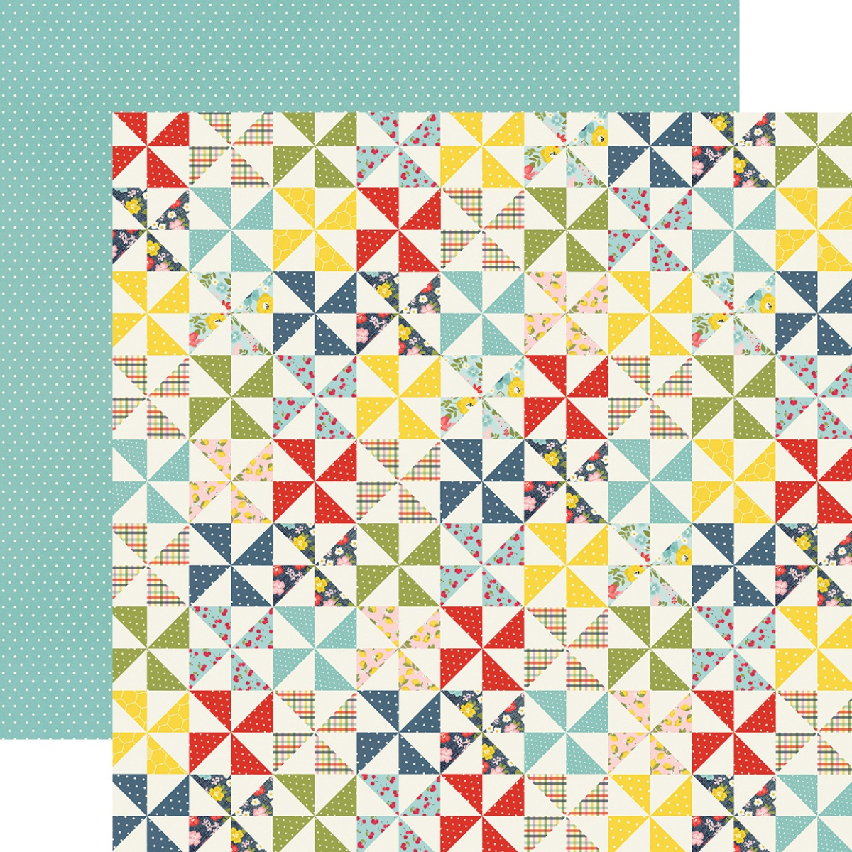 ^Simple Stories - Summer Farmhouse - SIMPLE PLEASURES - 12x12 Double-Sided Paper