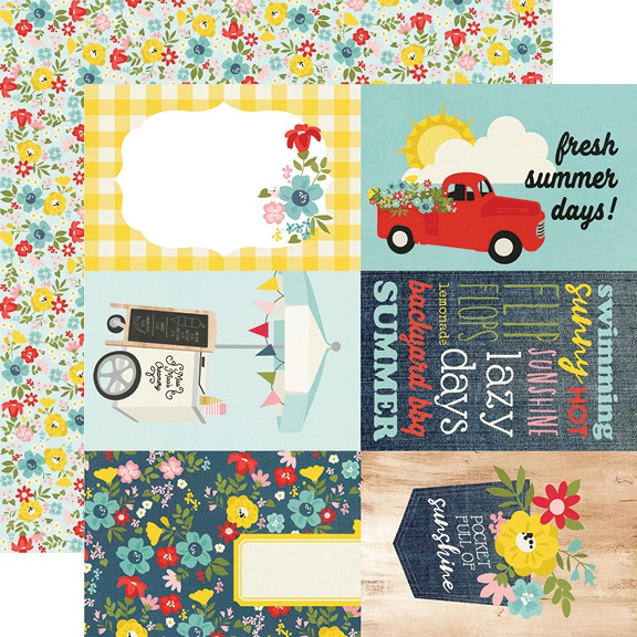 Summer Farmhouse Double-Sided Cardstock 12X12-4X6 Elements