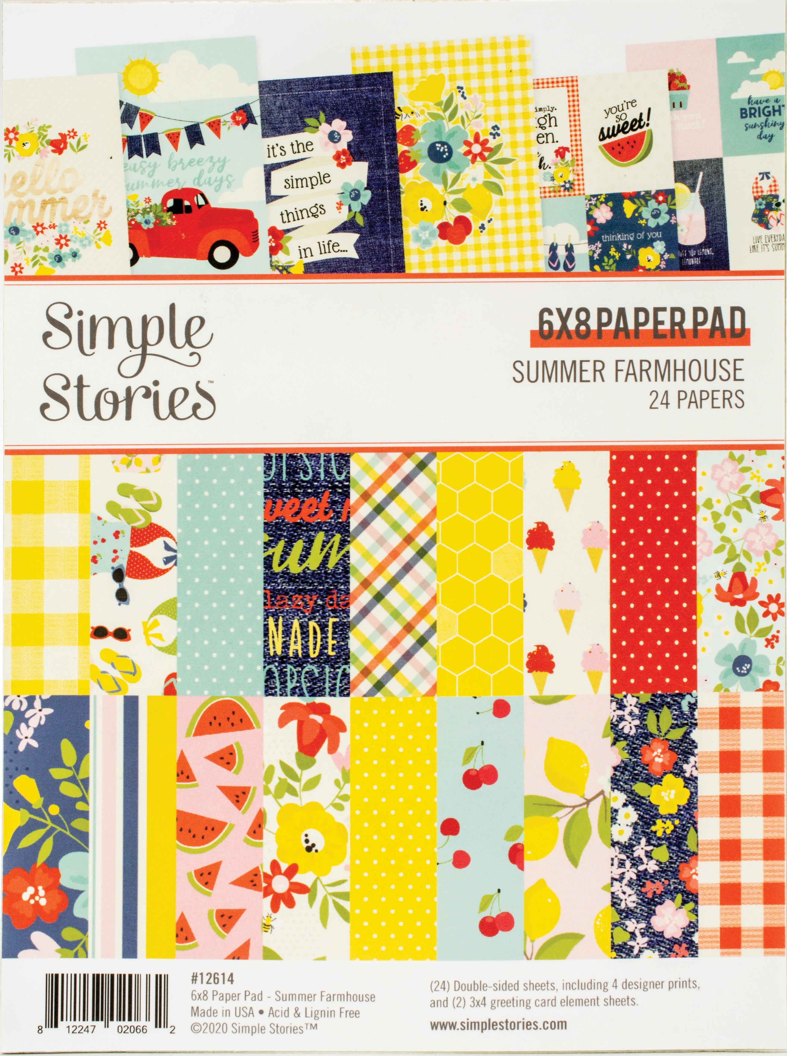 Simple Stories Double-Sided Paper Pad 6X8 24/Pkg-Summer Farmhouse