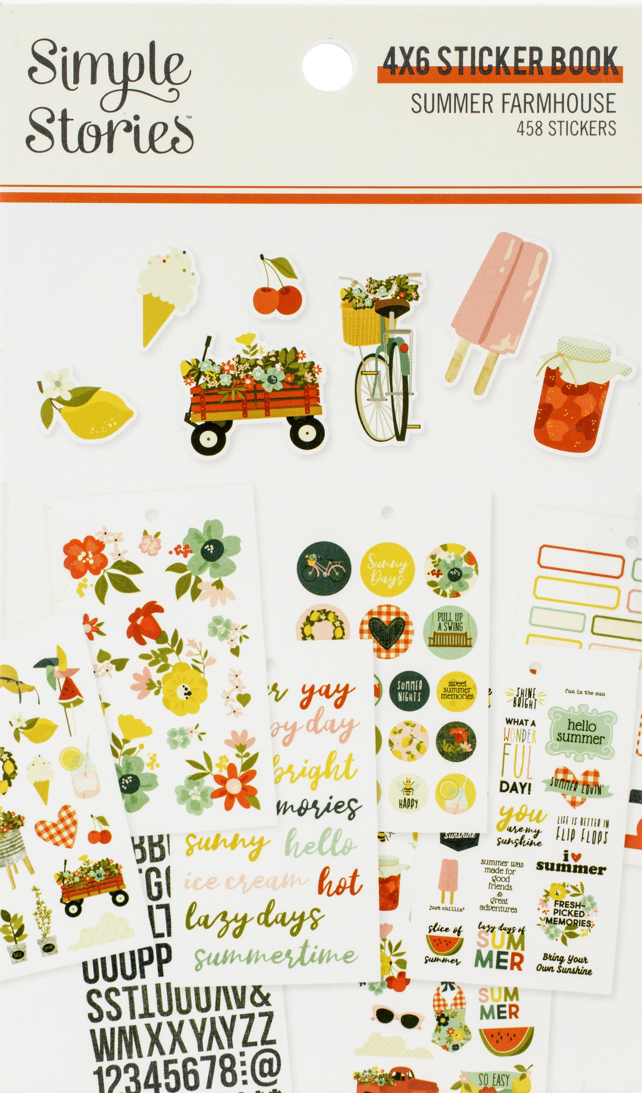 Summer Farmhouse Stickers 4X6 12/Pkg-