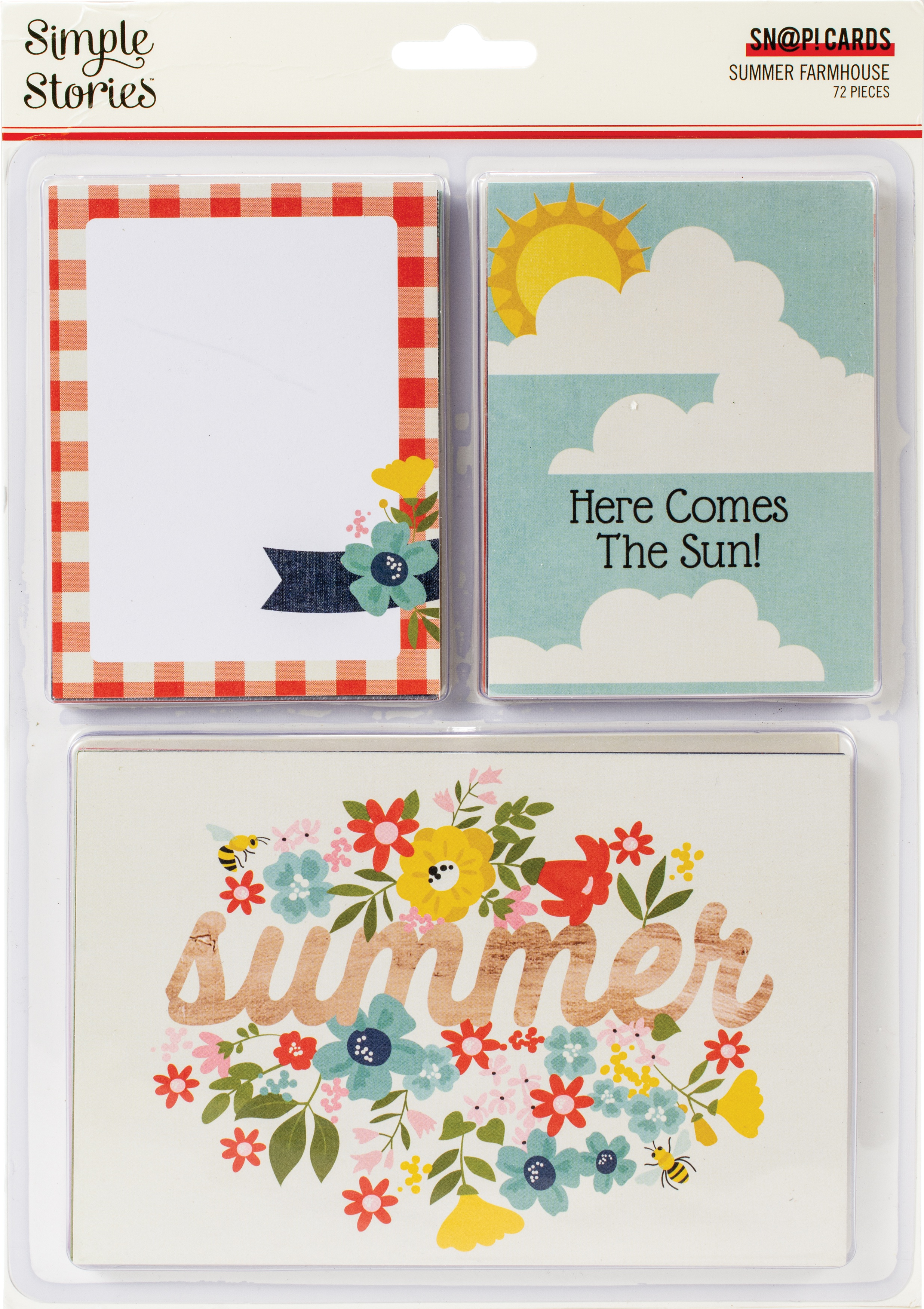 Simple Stories Sn@p! Card Pack 72/Pkg-Summer Farmhouse