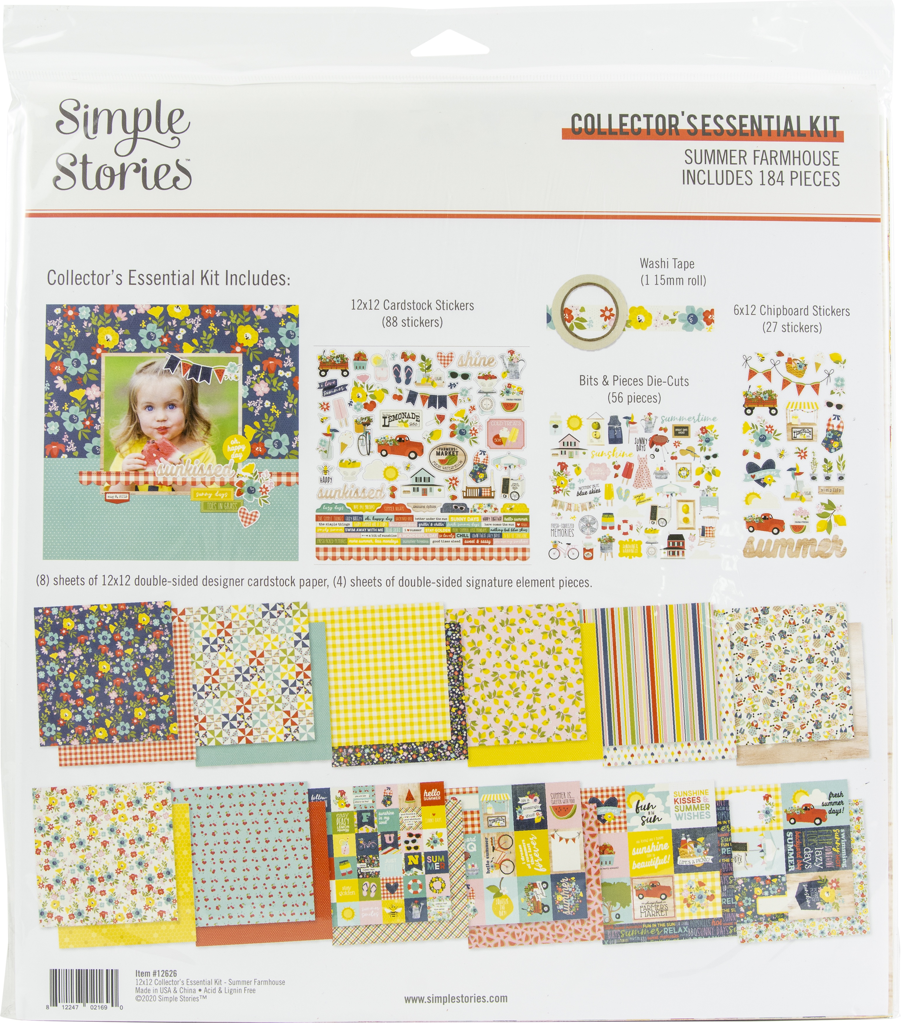 Simple Stories Collector's Essential Kit 12X12-Summer Farmhouse