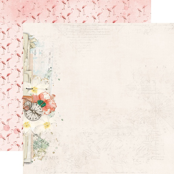 Simple Vintage Coastal Double-Sided Cardstock 12X12-Let's Get Lost