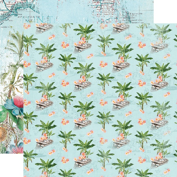 Simple Vintage Coastal Double-Sided Cardstock 12X12-Tropical Life