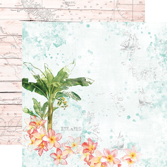 Simple Vintage Coastal Double-Sided Cardstock 12X12-Paradise Found