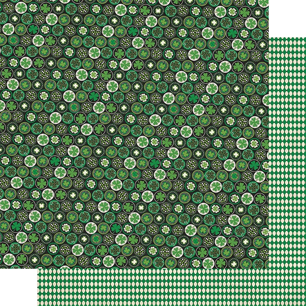 Dublin Double-Sided Cardstock 12X12-#1 Circles W/Clovers