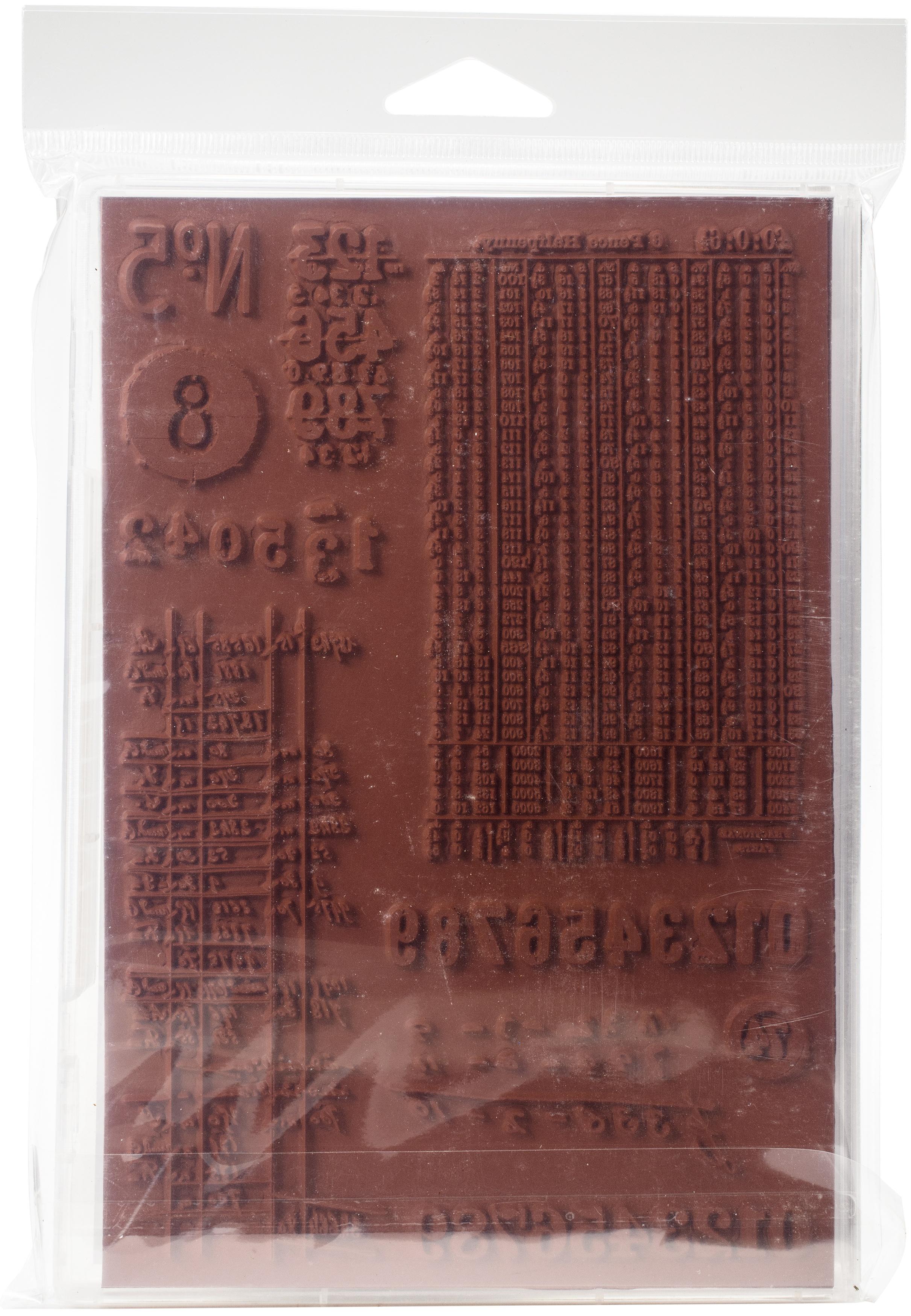 Darkroom Door Cling Stamps 7.3X5.1-Number Medley