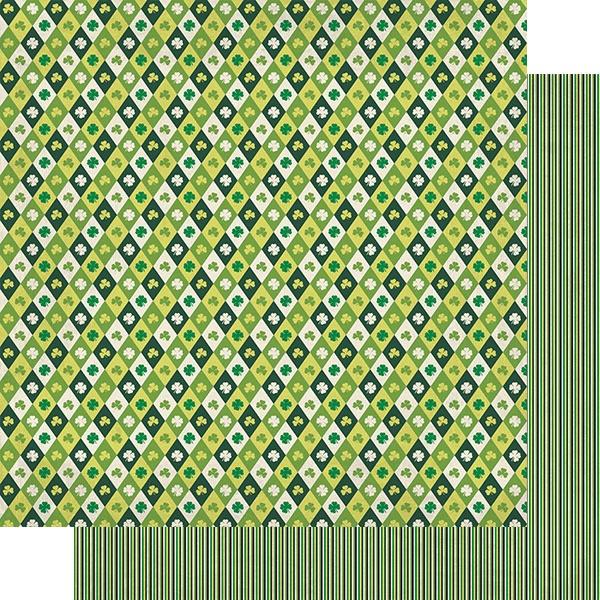 Dublin Double-Sided Cardstock 12X12-#3 Diamond Shamrocks & Clovers