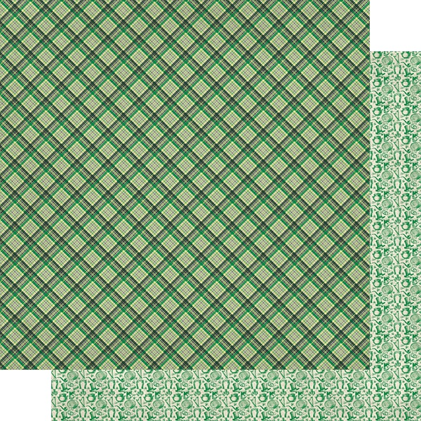 Dublin Double-Sided Cardstock 12X12-#5 Multi Color Plaid