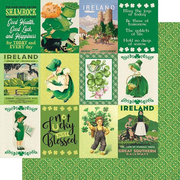 Dublin Double-Sided Cardstock 12X12-#8 3X4 Cut-Aparts