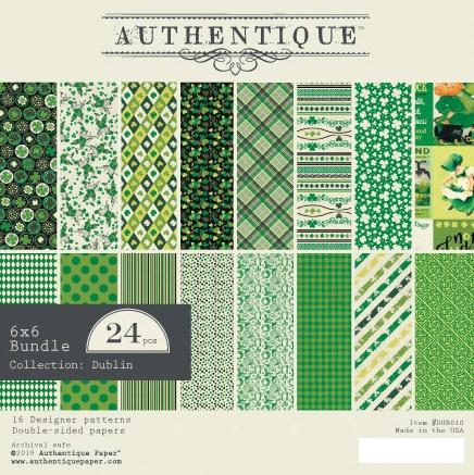 Authentique Double-Sided Cardstock Pad 6X6 24/Pkg-Dublin