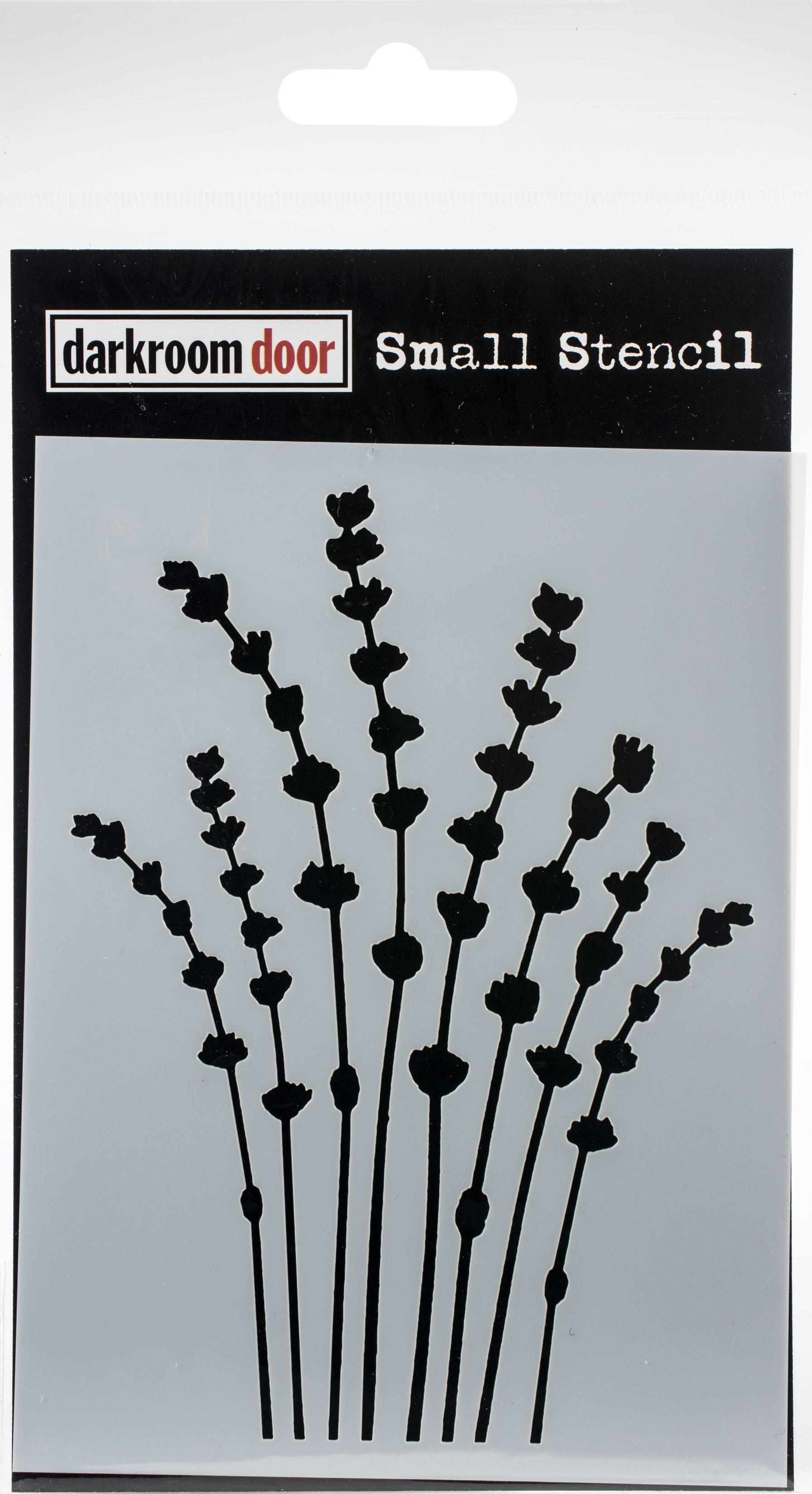 Darkroom Door Stencil 4.5X6-Lavender