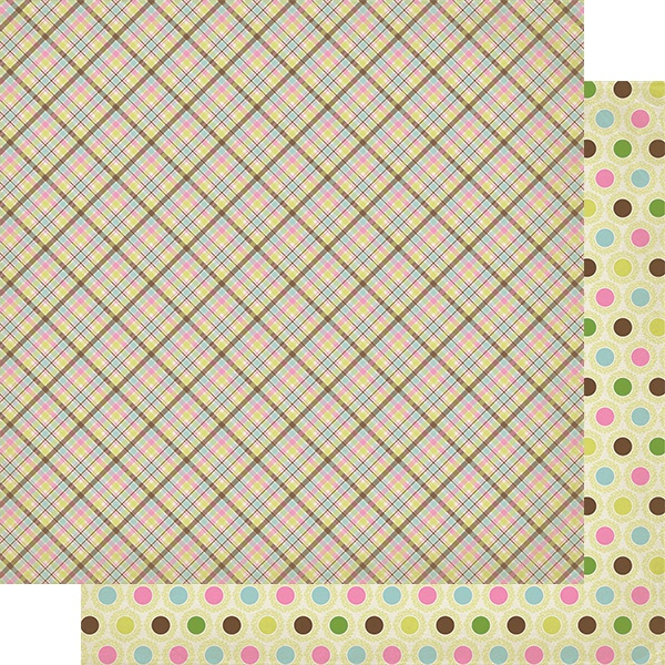 Cottontail Double-Sided Cardstock 12X12-#6 Spring Plaid