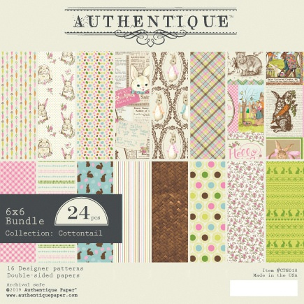 Authentique Double-Sided Cardstock Pad 6X6 24/Pkg-Cottontail