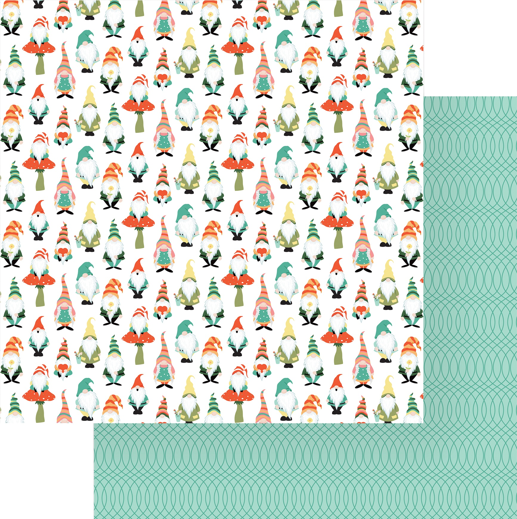 Tulla & Norbert Double-Sided Cardstock 12X12-Gnomies