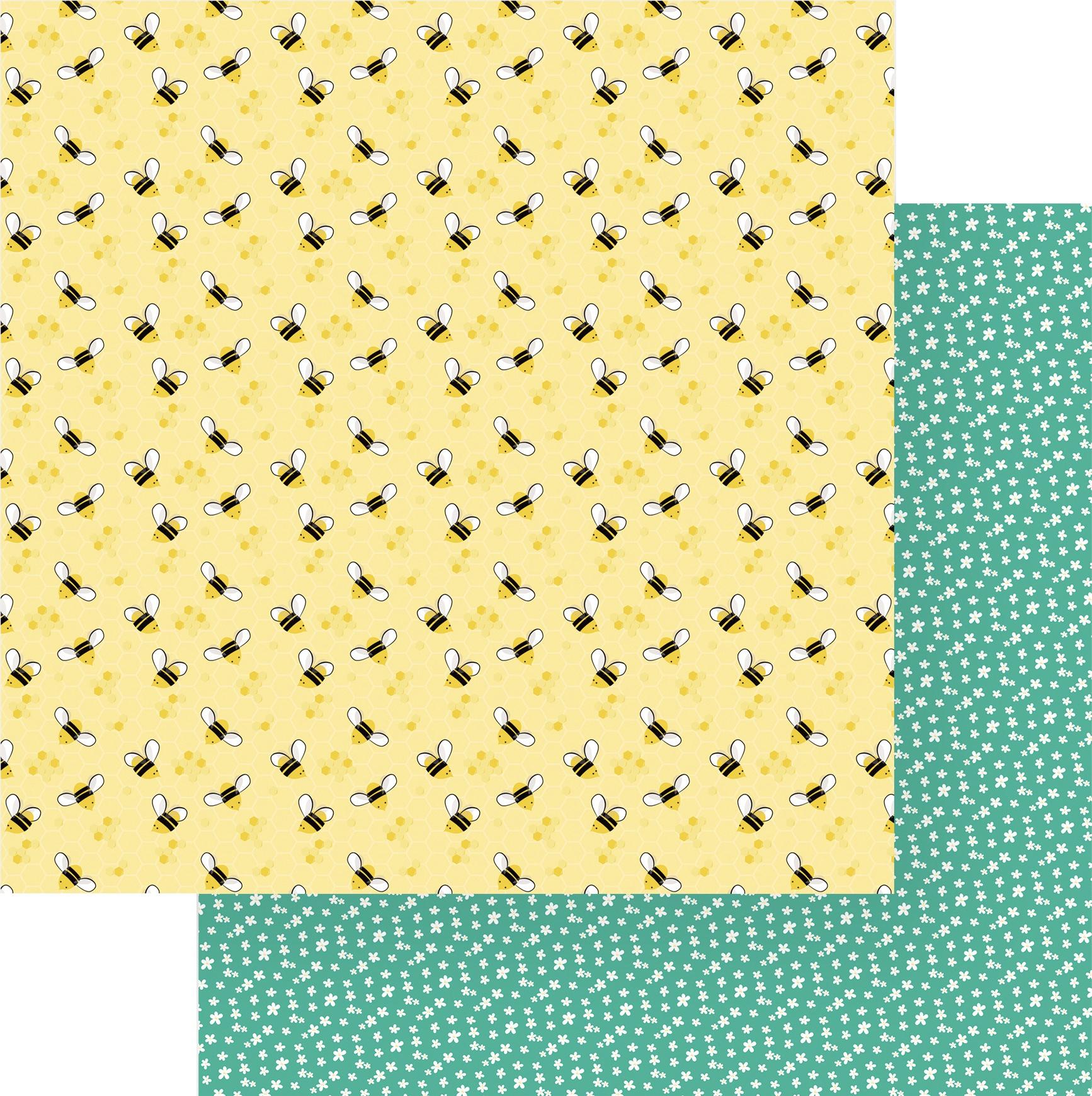 Tulla & Norbert Double-Sided Cardstock 12X12-Honey Bees